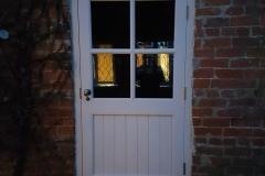 White door with window